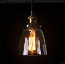 Modern Industrial Vintage Retro Glass Ceiling Lamp Fixture Pendant Hanging Light
