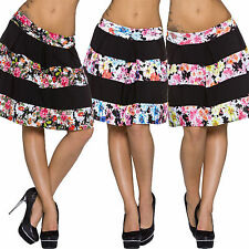 Ladies Skirt A-Line knee length Floral pattern S 32 34 36 Business Casual