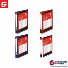 5 Star A4 Presentation Ring Binder Display Files - Multiple Colours/Sizes