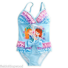 NWT Disney Store Princess Sofia Amber Deluxe Princess Swimsuit 4,5/6 Girl