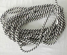 10MM PolyPropylene Braided Rope Camping Boat CLIMBING TRAPAULINES WHITE + BLACK
