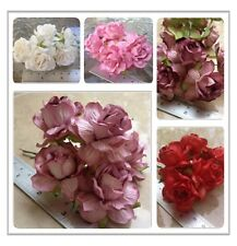 20 Artificial Mulberry Paper flowers Petal Handmade Wedding Tiny Rose 45 mm #C