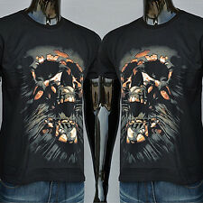 Men Creative 3D Skull Casual Short Sleeve T-shirt Round Neck Top Hot Gift