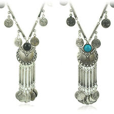 Hot Vintage Coin Long Pendant Necklace Chain Gypsy Tribal Ethnic Jewelry