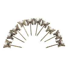 10x Vintage DIY Antique Hair Bobby Pins/Accessories Retro Grips Slides Butterfly