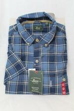 G.H. Bass&Co Mens Insignia Blue Plaid Short Sleeve Button Down Shirt Top $50 New