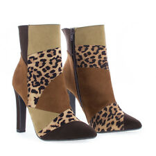 Yvette Pointy Toe Thick High Heel Ankle Bootie
