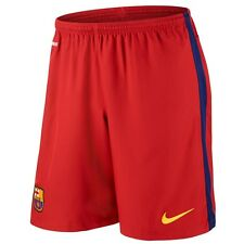NIKE FCB H SHORT TROUSERS OFFICIAL FC BARCELONA 2016 BARCA HOME RED 658786