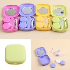 Cute Contact Lens Case Travel Kit Mirror Contact Lenses Box Container 5Colors