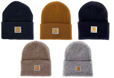 CARHARTT Logo Patch Beanie Acrylic Watch Hat Adult Unisex BNWT's Made in USA NEW