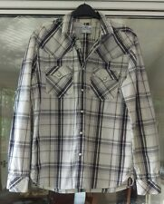 Levi's  Western Style Popper Shirt Medium M in black and white long sleeve