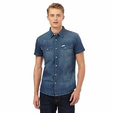 Wrangler Mens Blue Western Denim Shirt From Debenhams