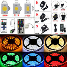 5M 300 600 1200 LED SMD 3528 5050 5630 Flexible Strip Light +Remote+Power Supply