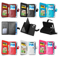 PU Leather Credit 9 Card Holder Wallet Flip Case Cover For Huawei  P9 P8 Lite