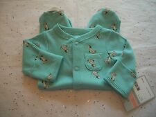 CARTER'S BABY BOY'S OUTFIT SLEEP AND PLAY PUPPIES NWT SO CUTE!!  MULTI COLOR
