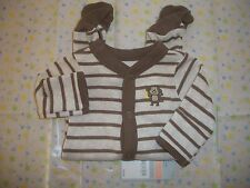 CARTER'S BABY BOY'S OUTFIT SLEEP AND PLAY MONKEY NWT SO CUTE!!