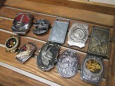 Vintage Belt Buckles, One with a Removable Lighter You choose one.