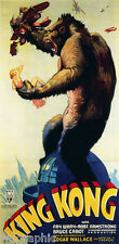 KING KONG, 1933 Vintage Movie Poster - Poster or Canvas Print 13x27