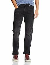 Mens Levis 501 2293 Straight Leg Button Fly Black Path Strong Jeans