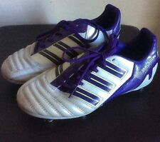 Adidas Predator Football Boots Size 4 /36 White/purple Champions League Edition