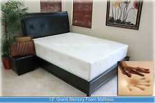 "13"" Grand Gel Memory Foam Mattress King Size With 2 Pillows"
