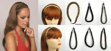 BRAIDED HEADBAND W/ ELASTIC HAIR PIECE HAIRPIECE HAIRDO EXTENSION BRAID 1792