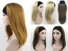 LONG STRAIGHT HAIR PIECE HAIRDO HAIRPIECE W/ ELASTIC HEADBAND EXTENSION PATRICIA