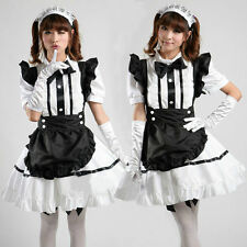 Halloween Womens Cute Barbie Doll Cosplay Costume Sexy French Maid Fancy Dresses