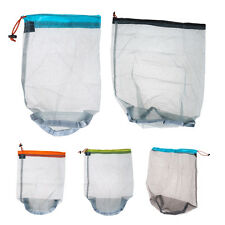 Ultralight Mesh Stuff Sack Drawstring Storage Bag Tavel Camping Hiking Sports