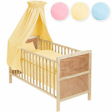 Baby crib cradle cot bassinet bed wood moses basket + bedding set