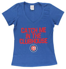 5TH & OCEAN Womens Chicago Cubs Catch Me in Clubhouse T Shirt Royal