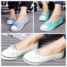 Women Casual Canvas Shoes Sneakers Sport Running Breathable Leisure Low Flats