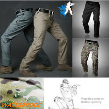 Mens Outdoor Military Tactical Combat Cargo Pants Resistant Waterproof Casual