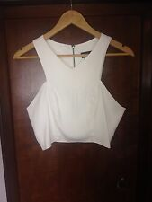 Topshop White Top Size 12
