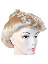 1940s Pompadour Rita Hayworth Ethel Merman Actress Lacey Costume Wig