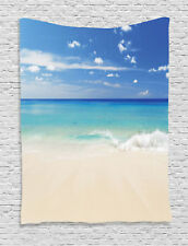 Tropical Haven Sand and Waves Escape to Paradise Theme Art Wall Hanging Tapestry