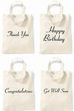 Thank You Congratulations Happy Birthday Get Well Soon Black Text Small Tote Bag