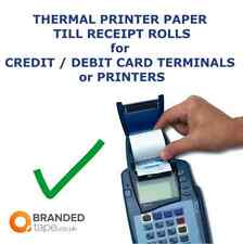 TILL RECEIPT ROLLS 57mm THERMAL PAPER,credit card machine,EPOS, Cash Register