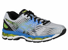 NEW MENS ASICS GEL-NIMBUS 17 RUNNING SHOES TRAINERS LIGHTNING / BLACK 2E WIDE
