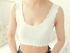 Lady Camisole Short Vest Stretch Tank Top Plain Under Safety Comfortable Summer