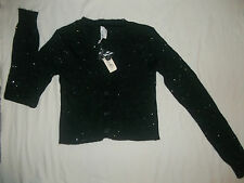 NEW AEROPOSTALE BLACK SIZE XS SMALL MEDIUM LARGE FITTED WAIST CARDIGAN SWEATER