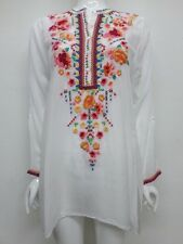NWT Johnny Was Sable Embroidered Button Front Tunic - M - JW13890716