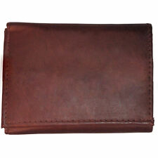 Men's Trifold Wallet Genuine Leather Billfold Photo ID Credit Card Slots New