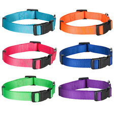 Blueberry Pet Classic Solid Nylon Adjustable Standard Dog Collar