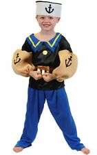 POPEYE THE SAILOR MAN CHILD BOYS FANCY DRESS BOOK WEEK HALLOWEEN COSTUME
