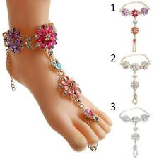 Ladies Fashion Foot Jewelry Accessory Charming Diamond Flower Beach Anklet