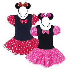 Kids Girls Baby Toddler Dresses Costume Minnie Mouse Cosplay Fancy Tutu Dress Up