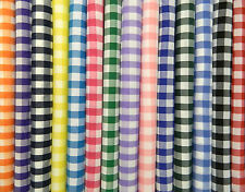 """1"""" GINGHAM CHECK POLYCOTTON  FABRIC **Per Meter**"""