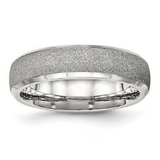 6mm Stainless Steel Polished Laser Cut Ring - Ring Size: 6 to 13