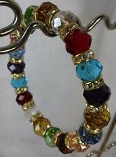 Bracelet Handmade Stretch Multi-Color Crystal Bracelet with Crystal Roundells